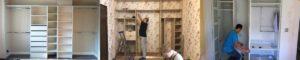 Сборка шкафа встроенного типа