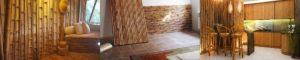 Отделка панелями из бамбука